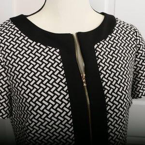 Black and White Tahari Sheath Dress